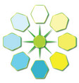 graph eco bio frames vector image