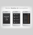 gray and orange mobile user interface vector image vector image