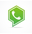 Green Phone Icon vector image