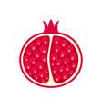 half of pomegranate icon flat style vector image vector image