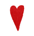 heart shape drawn with red colored vector image vector image