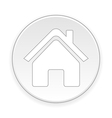 Home symbol button vector image vector image