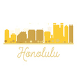 Honolulu City skyline golden silhouette vector image vector image