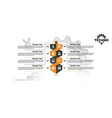infographic technology abstract background vector image