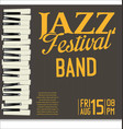 jazz festival background 3 vector image vector image