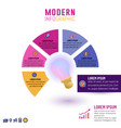 light bulb infographic template for business vector image vector image
