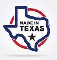 made in texas logo 05 vector image vector image