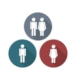 Man and Woman restroom sign vector image