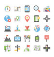 maps and navigation flat icons set 6 vector image vector image