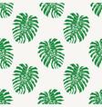 monstera deliciousa tropical leaf seamless vector image vector image
