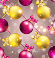 New Year pattern with ball Christmas wallpaper vector image vector image