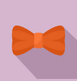 orange bow tie icon flat style vector image