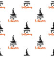 queen halloween seamless pattern with hat vector image