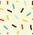 seamless confetti pattern vector image vector image