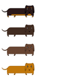 seamless pattern of dachshunds vector image vector image