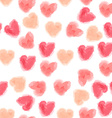 seamless watercolor hearts background vector image vector image