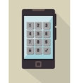 security password mobile phone icon graphic vector image