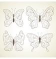 set butterflies vector image vector image