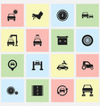 set of 16 editable car icons includes symbols vector image vector image