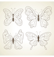 set of butterflies vector image vector image