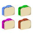 set of schoolbag school supplies icon and logo vector image vector image