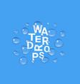 set transparent drops water vector image