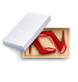 shoes in box realistic set vector image