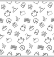 Shopping seamless pattern background in thin line vector image vector image