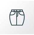 short skirt icon line symbol premium quality vector image vector image