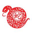 Snake Lunar symbol vector image vector image