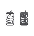 soda can line and glyph icon drink and beverage vector image vector image