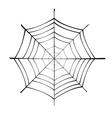 spiderweb silhouette vector image vector image