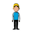 standing man character people casual clothes vector image vector image