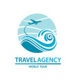 travel logo design vector image vector image