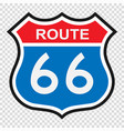 us route 66 sign vector image vector image