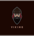 viking face vector image vector image