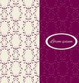 Vintage background with floral ornament vector image vector image