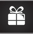wedding gift box icon on black background for vector image