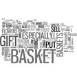 what to put in a gift basket text word cloud vector image vector image
