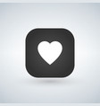 white heart icon over application button vector image