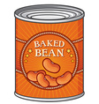 Baked beans can vector image