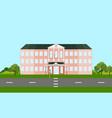 school building facade in summer time vector image