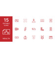 15 wealth icons vector image vector image