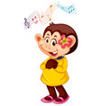 a monkey cartoon character vector image vector image