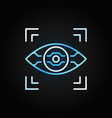 ai eye linear colored icon on dark vector image vector image