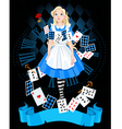 Alice in wonderland vector image vector image