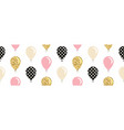 balloons seamless pattern background for birthday vector image vector image