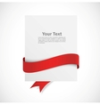 Banner with red ribbon vector image vector image