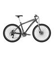 bike is metallic in vector image