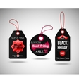 Black Friday Sale paper tags Isolated labels vector image